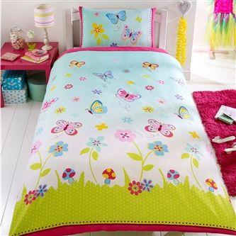 Ordinaire Butterfly Gardens Single Duvet   Perfect Girls Bedding With Flowers U0026  Butterflyu0027s