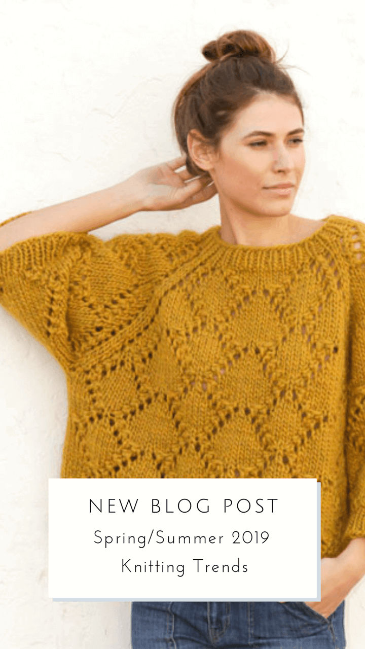 bf3b9cbfe47f Spring Summer 2019 Knitting Trends    talvi knits. I took a look at the  latest knitting pattern collection from Garnstudio DROPS Design and did a  little ...
