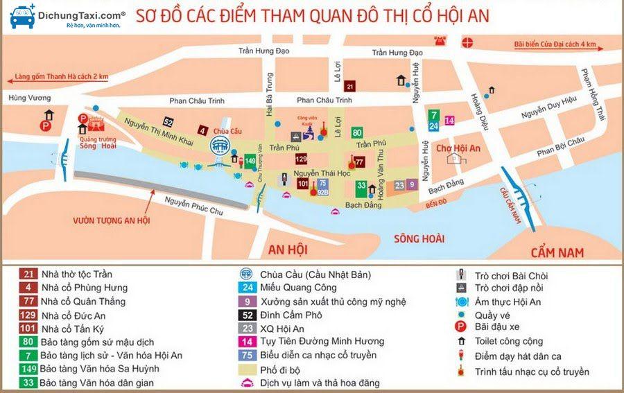 Bản đồ du lịch Hội An - Đà Nẵng
