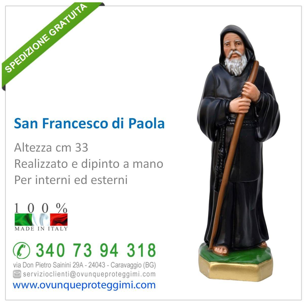 STATUA SAN FRANCESCO IN RESINA MADE IN ITALY