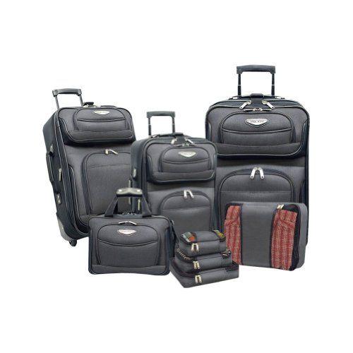 Traveler s Choice Travel Select Amsterdam 8 Piece Luggage Set (Gray Black)  Traveler s Choice b97fc2b7a3