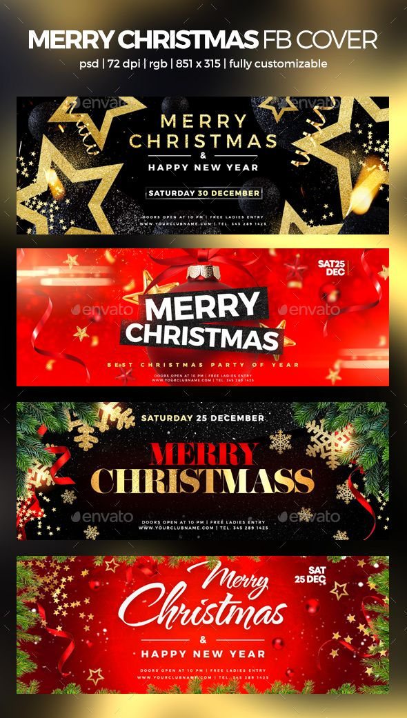 Merry Christmas Facebook Cover (Có hình ảnh)