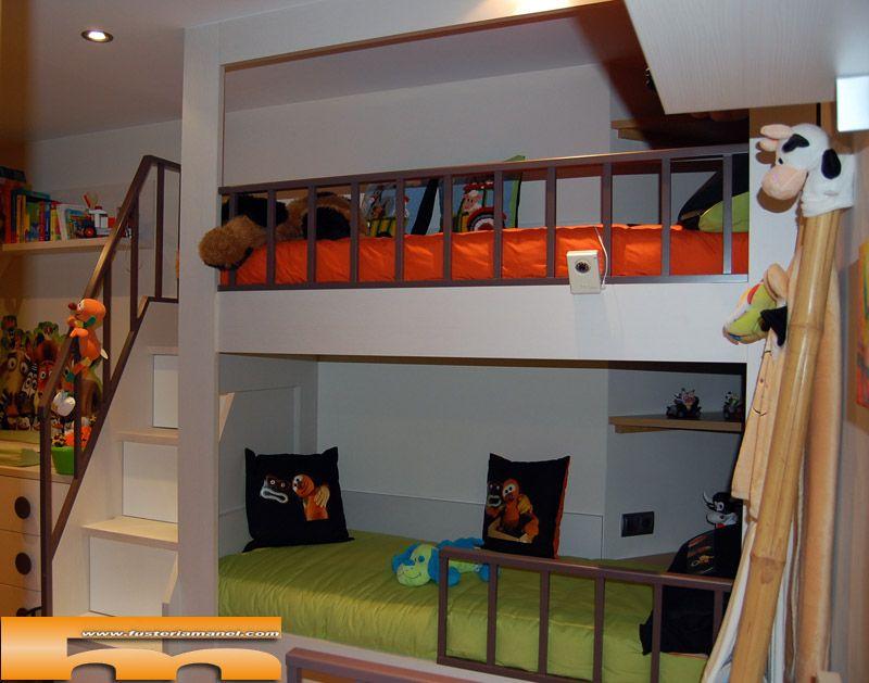 camas altas litera infantiles hijos armario dormitorios muebles salas de juegos dormitorio ideas