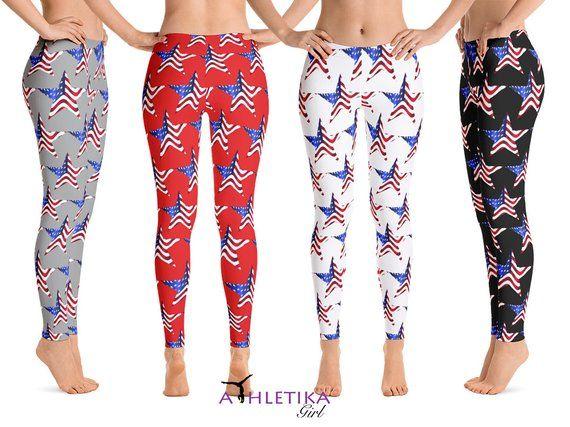 f9963a17e5d41a American Flag Yoga Leggings Stars USA Independence Day | Etsy American Flag  Yoga Leggings Stars USA Independence Day Patriotic Capri Woman Fitness 4th  July ...
