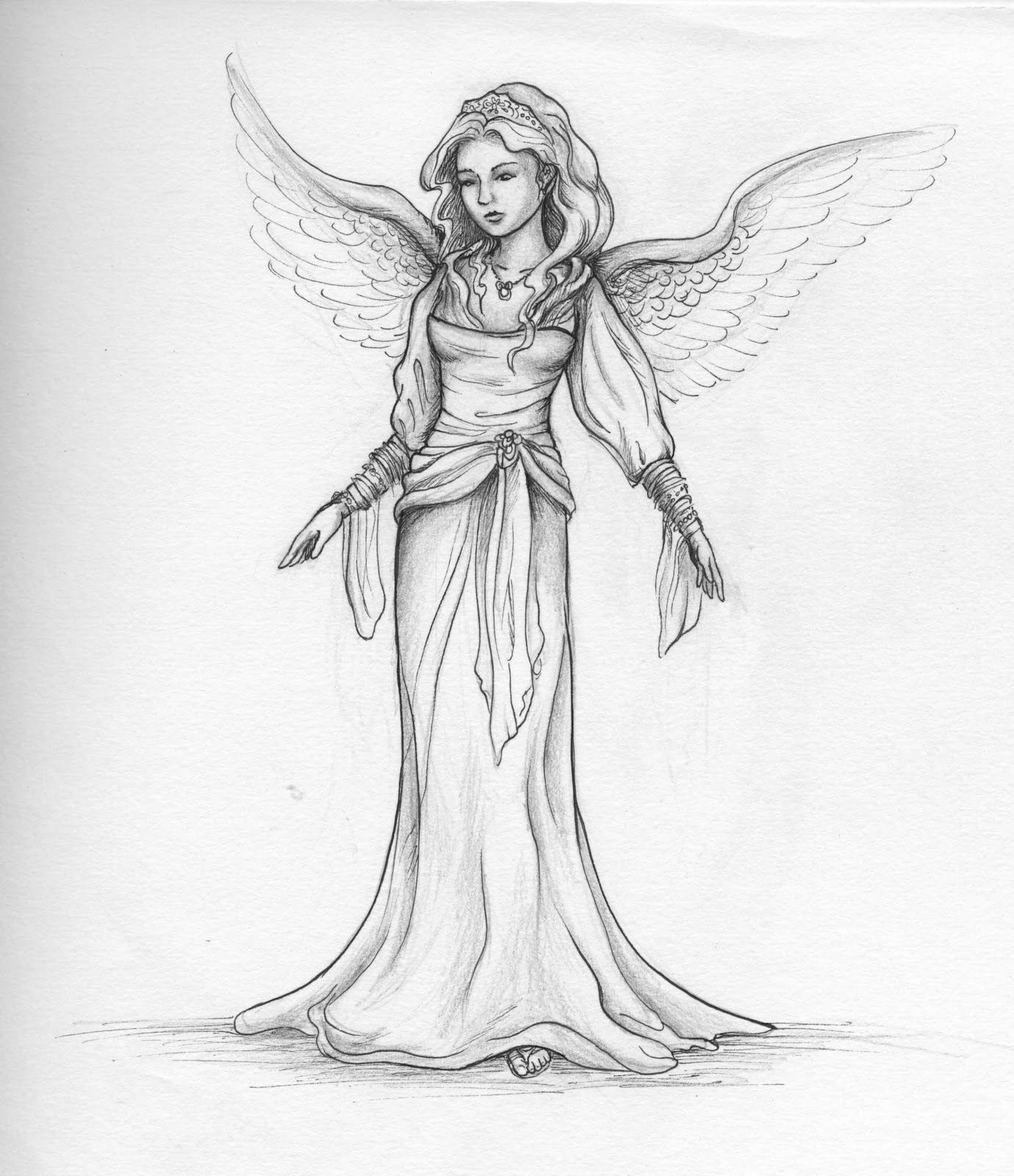 Angels in pencil google search drawart angel drawing pencil