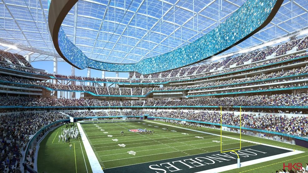 The New Home Of Rams And Chargers Nfl Nfl Stadiums Sports Stadium Football Stadiums