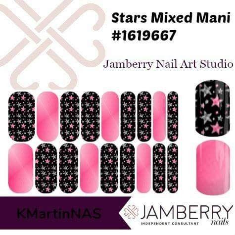 Stars Mixed Mani Jamberry Nail Art Studio Jamberry Pinterest