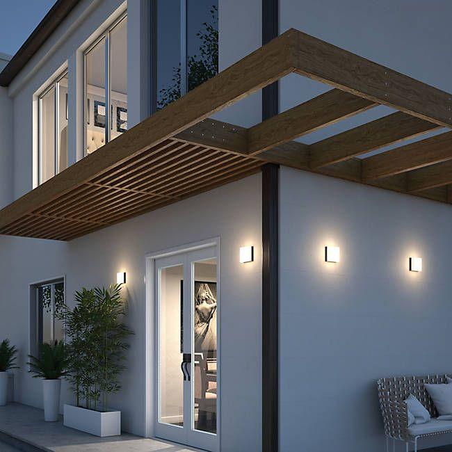 Teras Rumah Dak Cor boxie outdoor wall sconce flushmount outdoor walls
