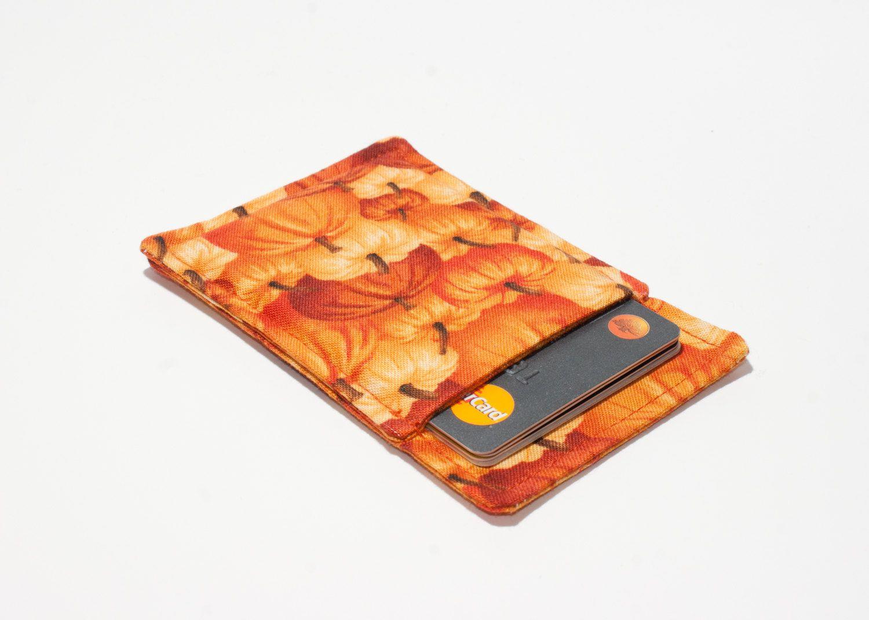 Pumpkin themed credit card wallet - Minimalist wallet - Slim ...