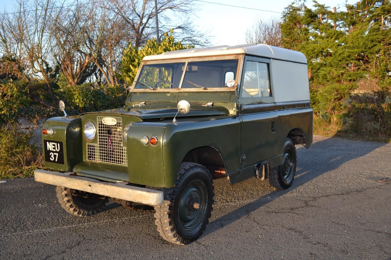 "Land Rover Series 2a 88"" 1963 1 Owner from New & 73,000 Miles. NEU 37 – 1963  Land Rover Series 2a Hardtop that has covered just 73,000 miles from new."