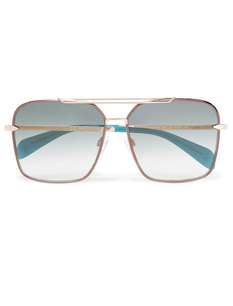 e44f729eddc0 Details about Rag   Bone Women s Blue Square-frame Rose Gold-tone ...