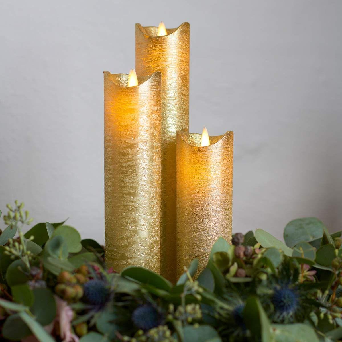 Led Kerze Sara Exclusive Von Sirius Gold Led Kerzen Kerzen Und