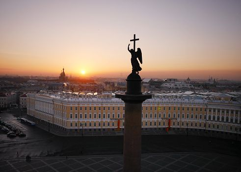 The angel atop the Alexander Column.