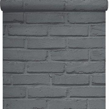 Papier peint papier inspire brique loft gris larg m walls and doors - Papier peint brique loft ...
