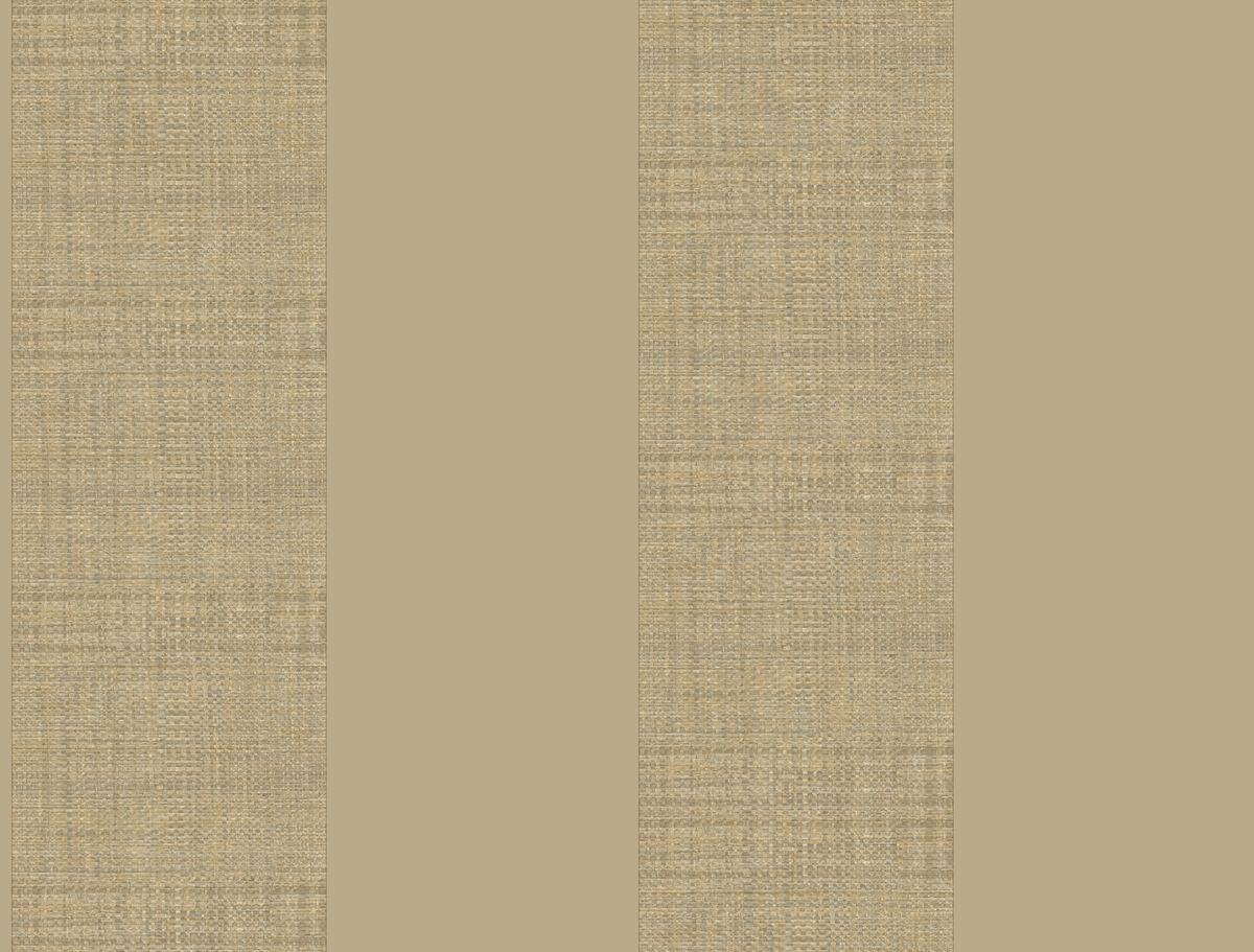 York At7085 Tropics Grasscloth Stripe Wallpaper Tan Grey