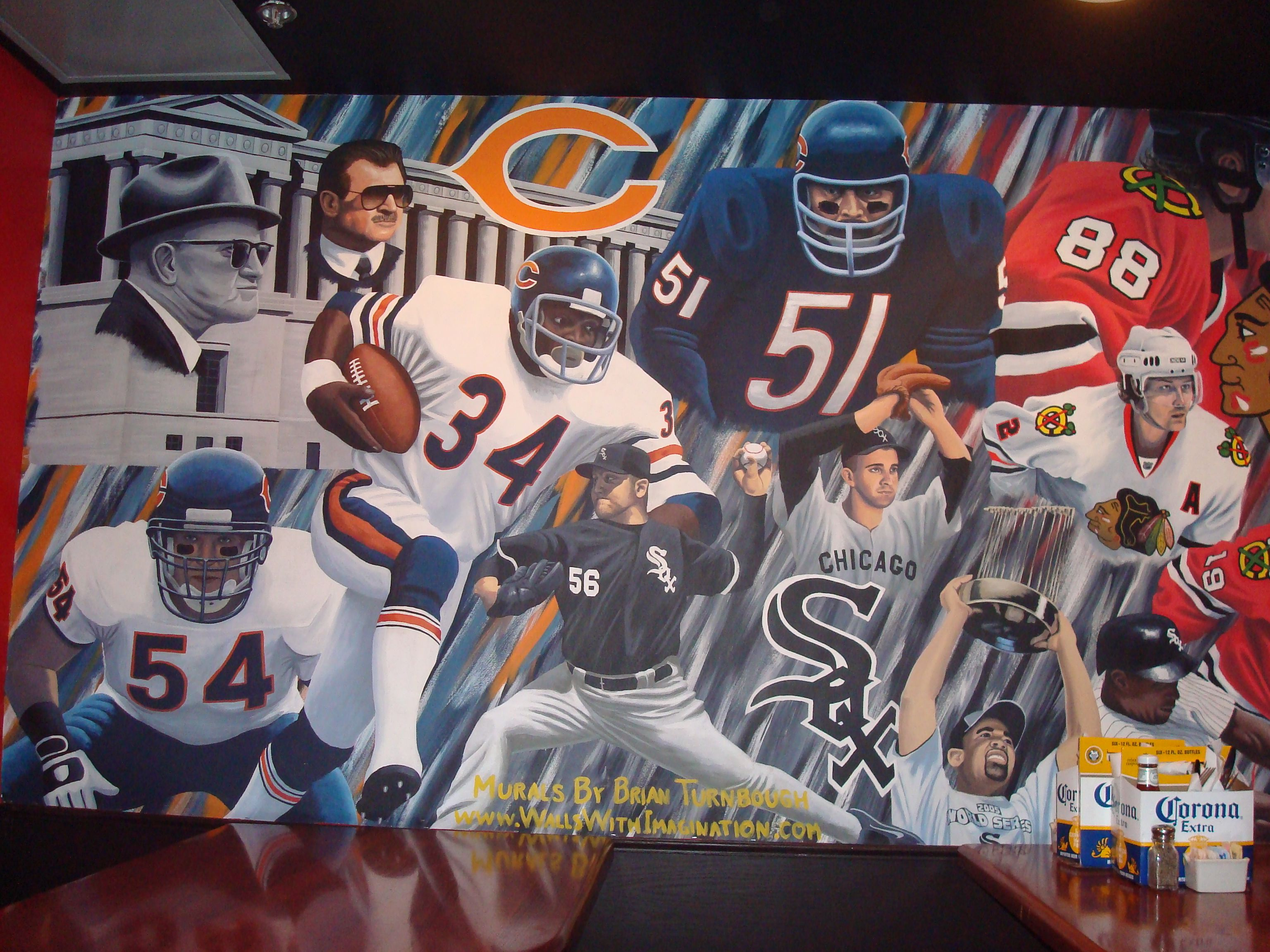 Chicago Sports Wallpaper Chicago sports legends mural