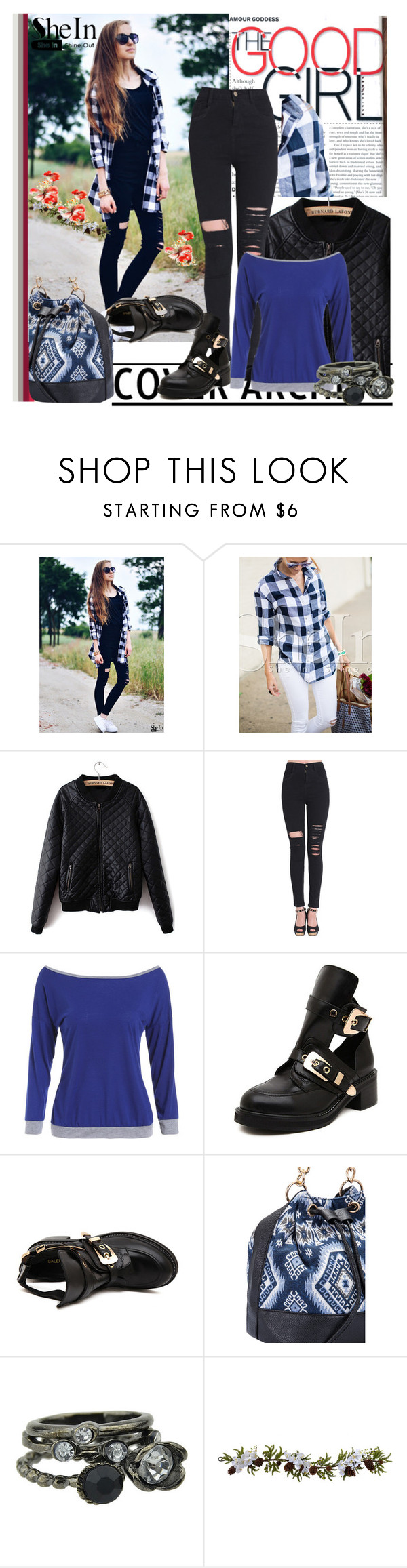 """""""Shein.com"""" by lip-balm ❤ liked on Polyvore featuring moda, Nearly Natural, vintage y shein"""
