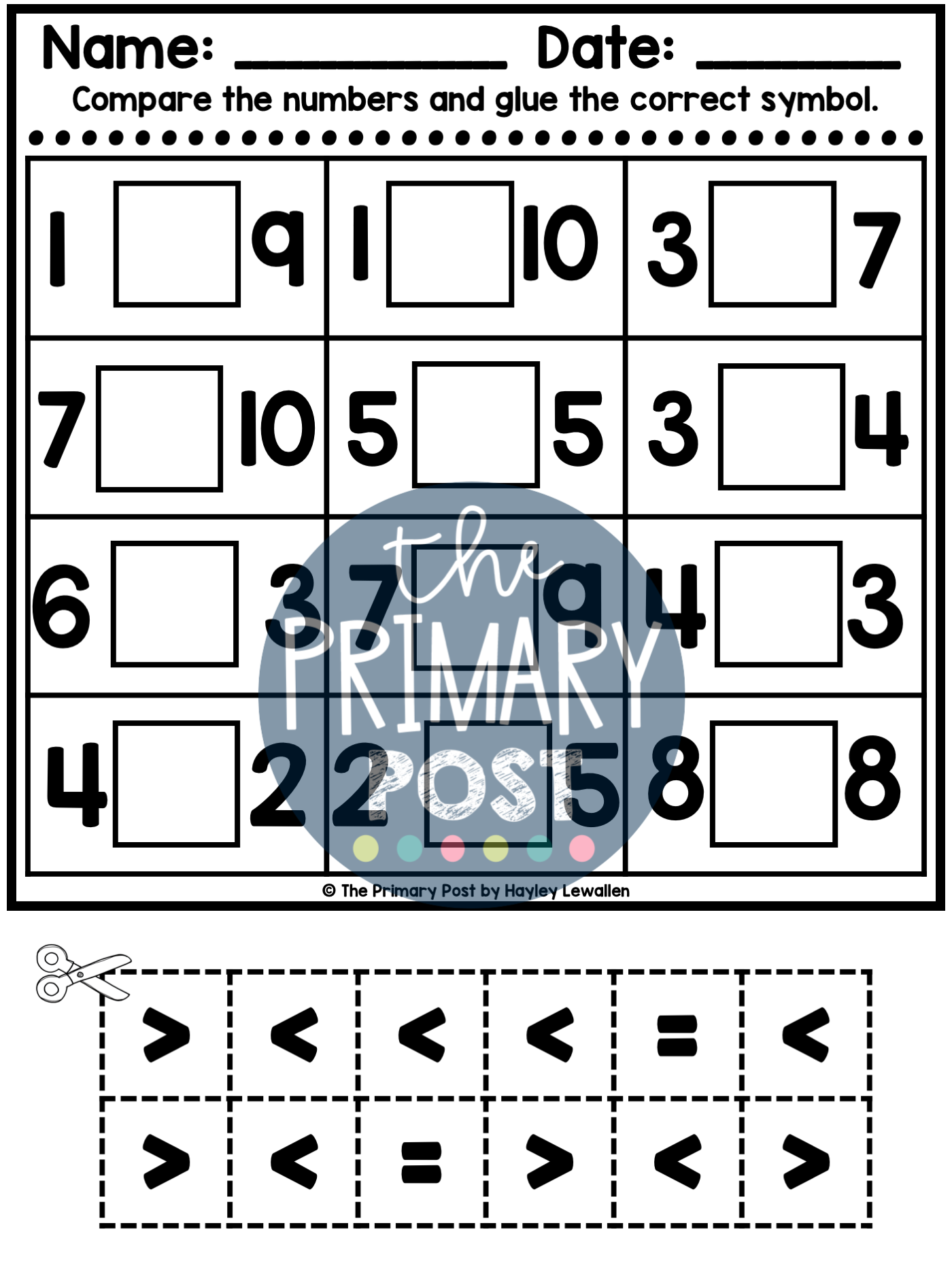 Comparing Numbers Worksheets In
