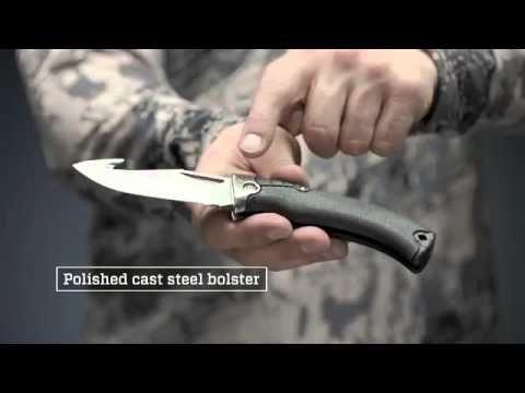 Gerber Gator Premium, Pocket Knife, Black Rubber Handle with Gut Hook | Gerber Knives #gerberknives #hunting #camping #preppers #zombieapocalypse