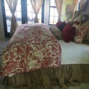 Alpine Percale Toile Percale Patterned Duvet Cover
