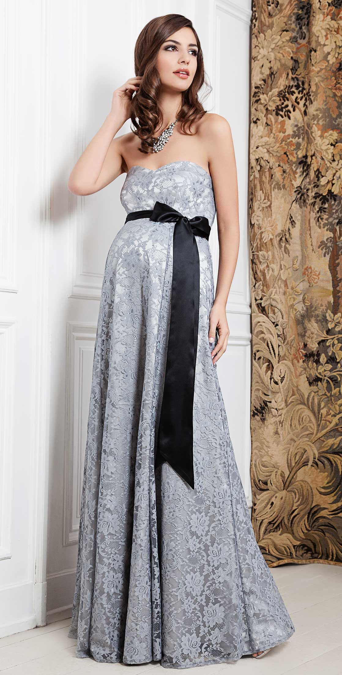 Olivia Gown | Silver mist, Maternity gowns and Gowns