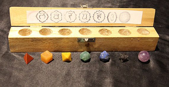Platonic Solids 7-piece shaped healing by MerkabaStarCrystals