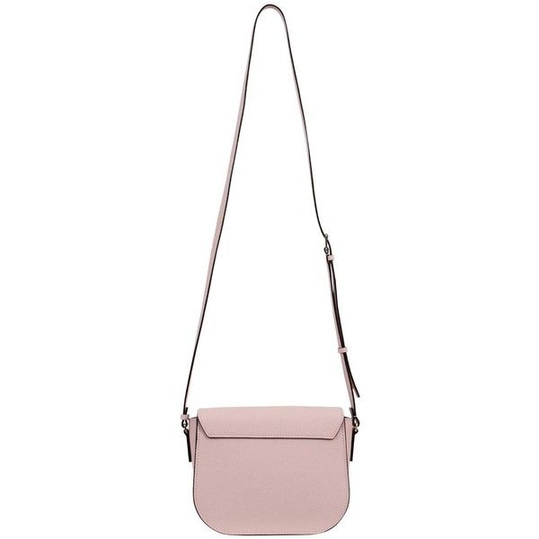 Pastel Pink Iside Crossbody ($1,365) ❤ liked on Polyvore featuring bags, handbags, shoulder bags, pink, white crossbody purse, leather handbags, pink leather purse, pink cross body purse and pink shoulder bag
