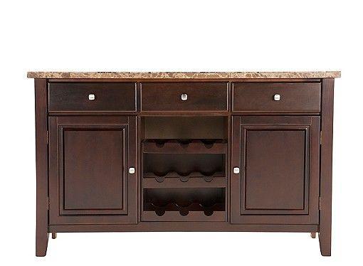 Bedrock Marble Sideboard W Wine Storage Dining Room