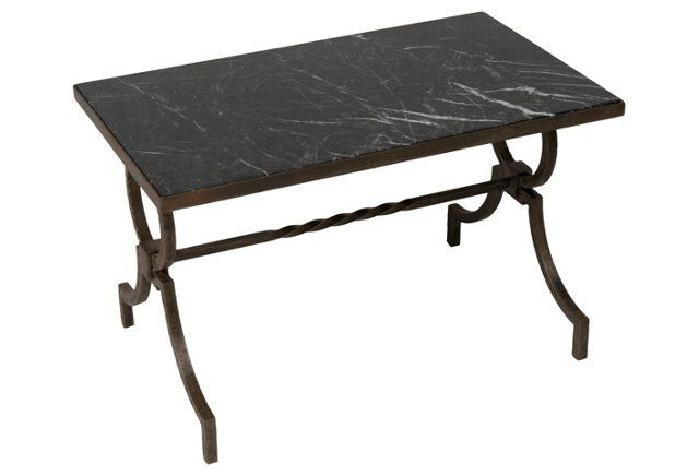 Marble Table by Gilbert Poillerat