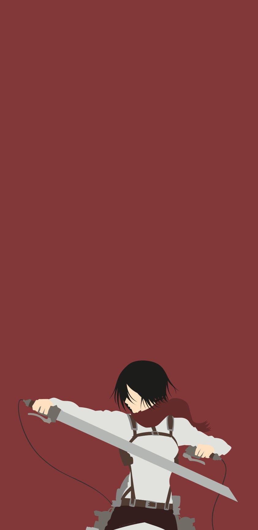 Mikasa Ackerman Minimalist Wallpaper Em 2021 Animes Wallpapers Filmes De Anime Wallpapers Bonitos