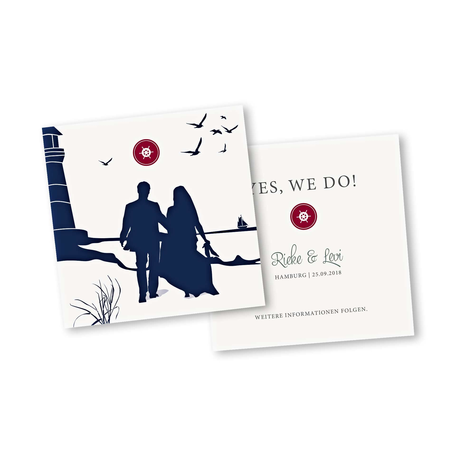 Einladungskarten Hochzeit Einladung Party Heirat Danksagung Save the date Karte