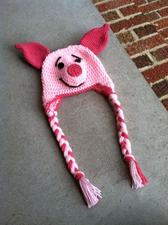 Piglet Winnie The Pooh Crochet Hat Makes Me Laugh Ha