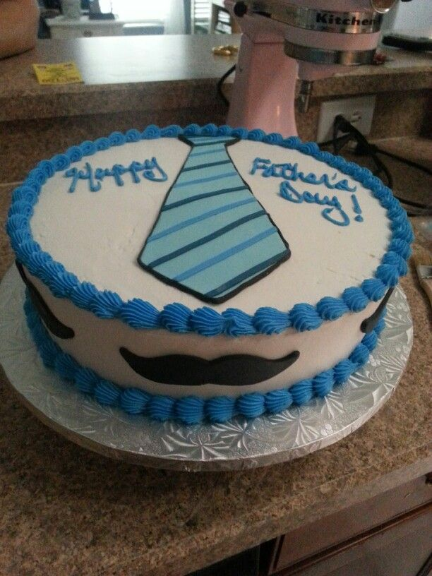 Father S Day Cake Buttercream And Fondant Decorations With
