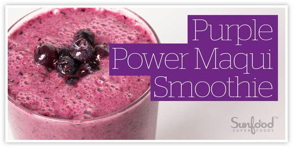 Purple Power Maqui Smoothie Recipe