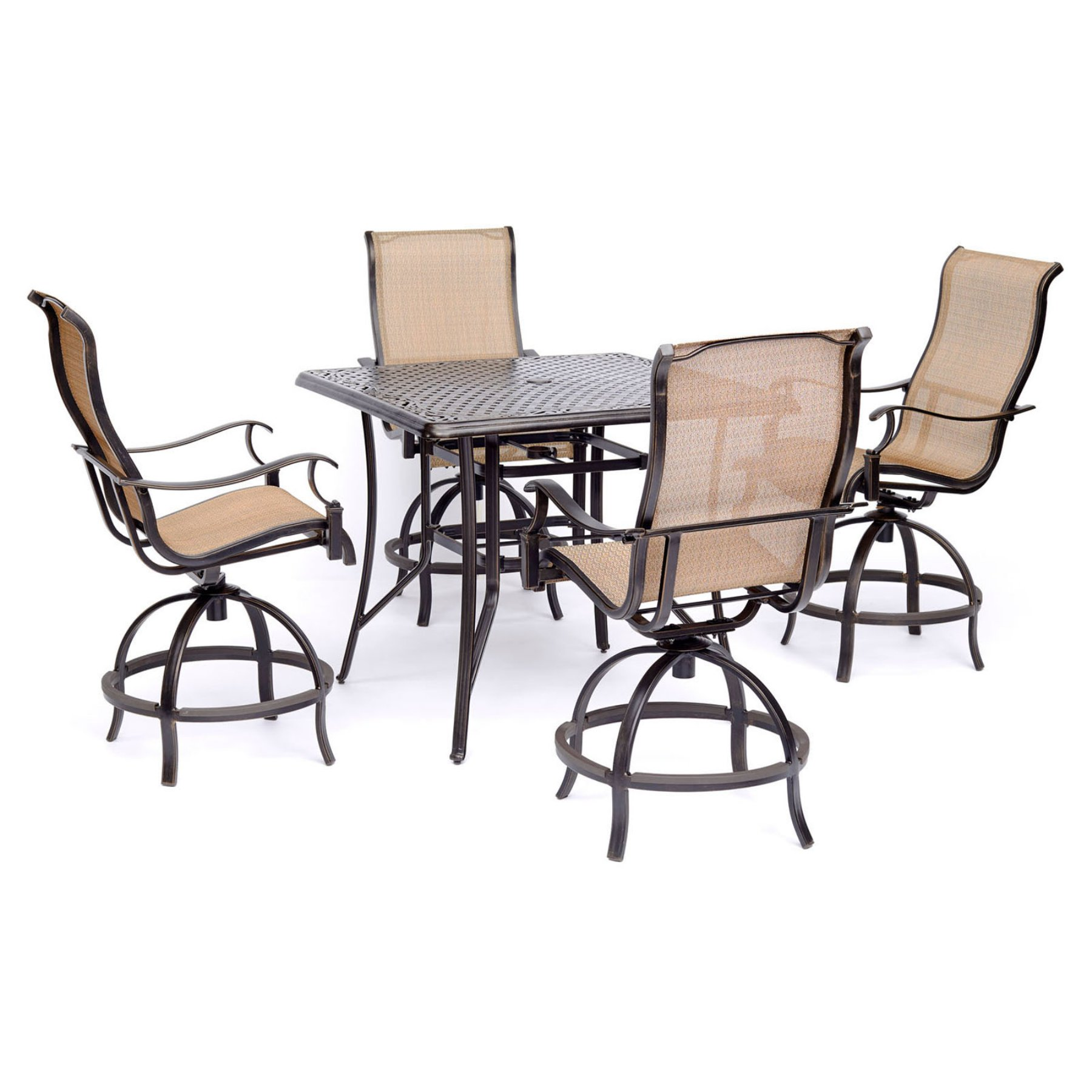 Fabulous Outdoor Hanover Manor Aluminum 5 Piece Bar Height Patio Machost Co Dining Chair Design Ideas Machostcouk