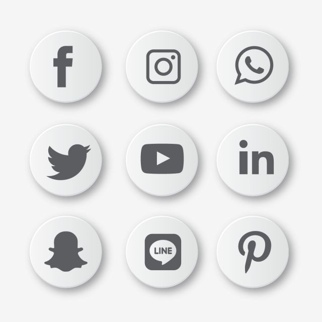 Social Media Icons Set Logo Vector Illustrator Social Icons Logo Icons Media Icons Png And Vector With Transparent Background For Free Download Icones De Midia Social Icones Redes Sociais Midias Sociais
