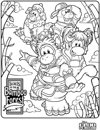 Club Penguin Coloring Pages Ninja | Penguin coloring pages ...
