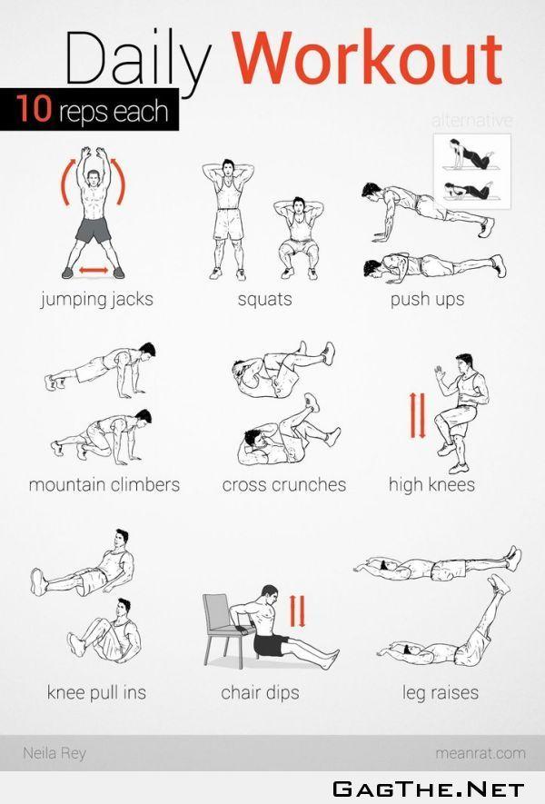 Diaria tabla de ejercicios