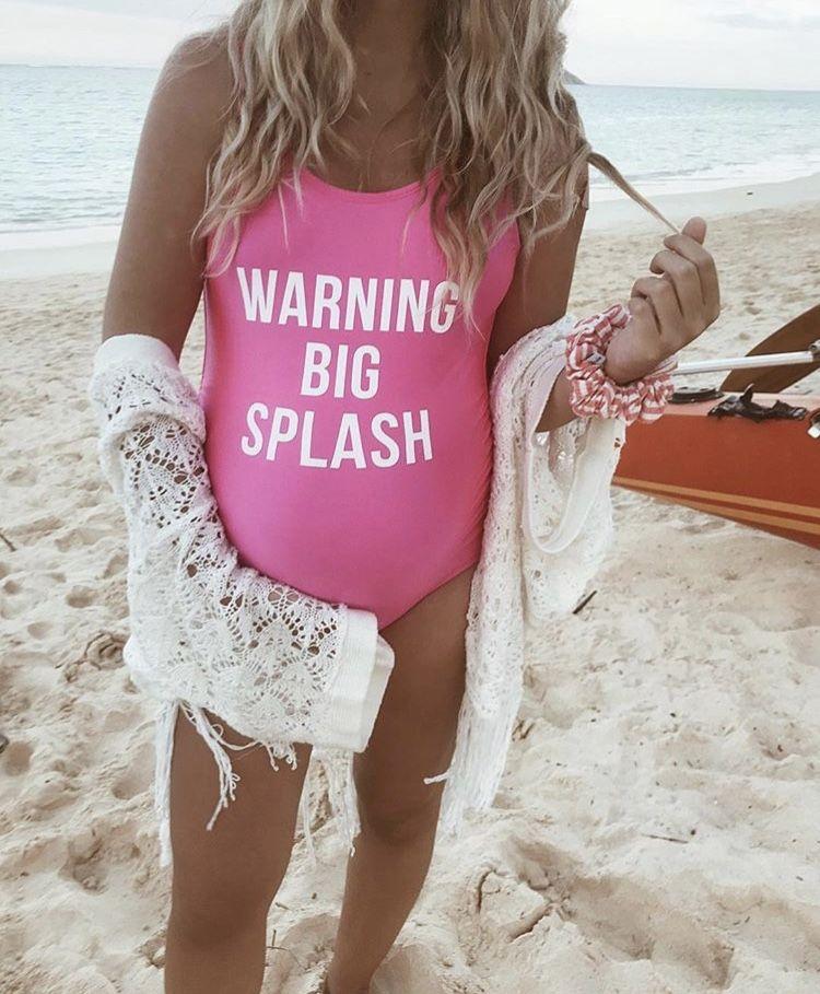 eb879ab045 Warning Big Splash Maternity swimwear