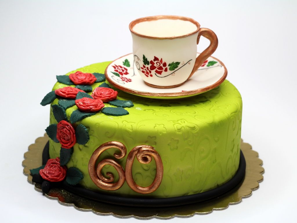 60th Birthday Cake For Woman