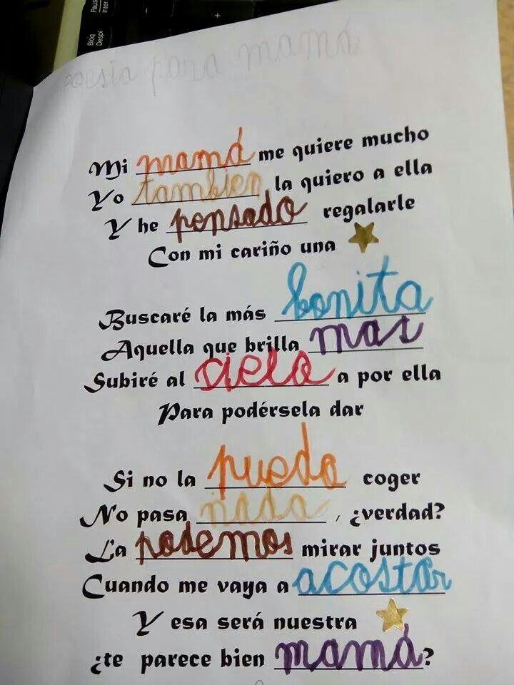 Poemas Canciones Para El Dia De La Madre Para Niños Poesia Con Imagenes Actividades De Dia De Las Madres
