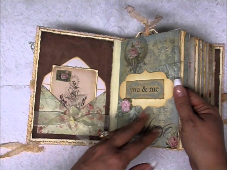 Wedding Guest Book Ephemera S Vintage Garden Wedding Mini Album Mini Scrapbook Albums Wedding Guest Book