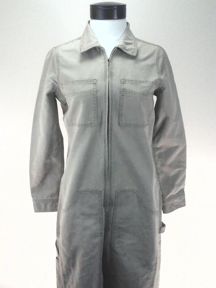 madewell x dickies zip coveralls jumpsuit khaki ab769 on dickies coveralls id=16842