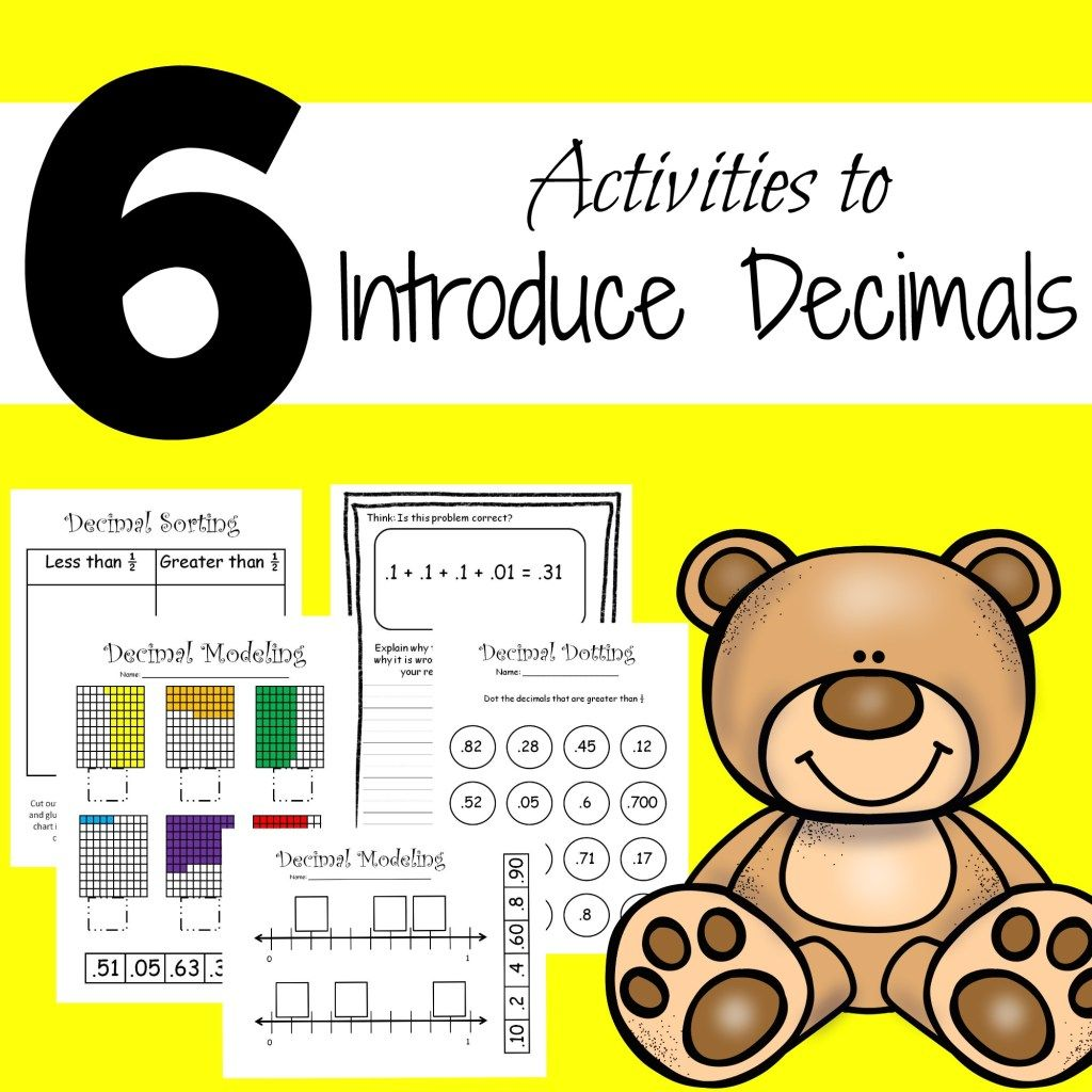 6 Introducing Decimals Activities