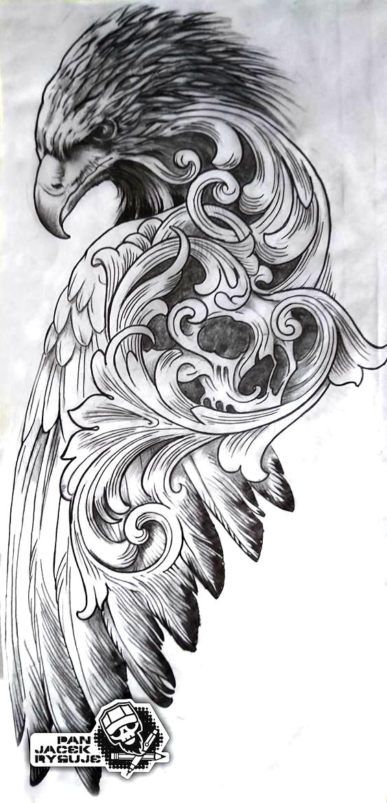 Eagle1 By Panjacekrysuje On Deviantart In 2020 Filigree Tattoo Sketch Tattoo Design Tattoo Sleeve Designs