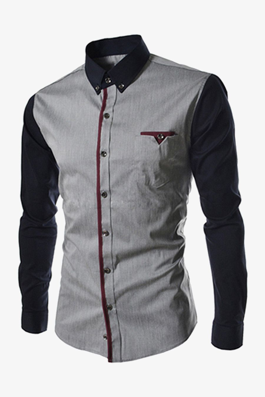 9a09824d3ccdb Men s Bicoloured Shirt In Gray