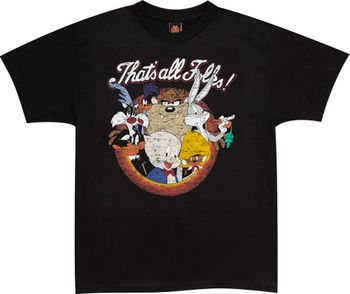 T-Shirt Looney Tunes /'Thats All Folks Group/' NEW /& OFFICIAL! White