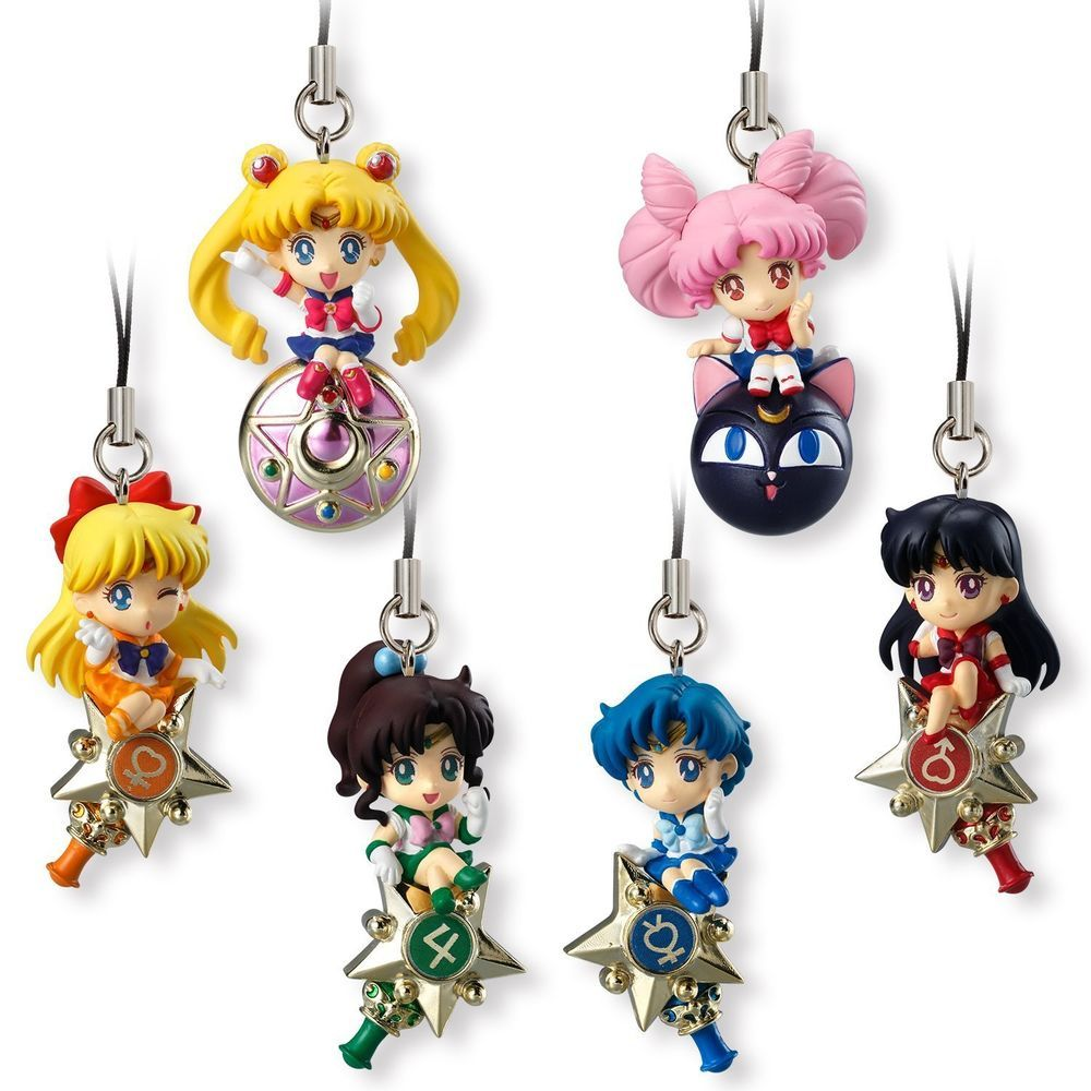 Sailor Moon Ribbon Charm BANDAI Set of 2 Mercury Venus NEW In Box