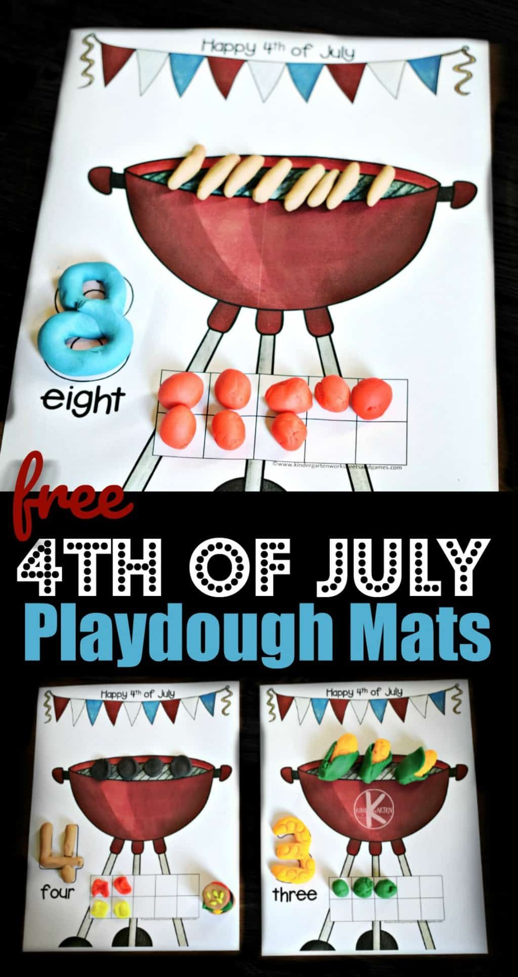 4th Of July Playdough Mats
