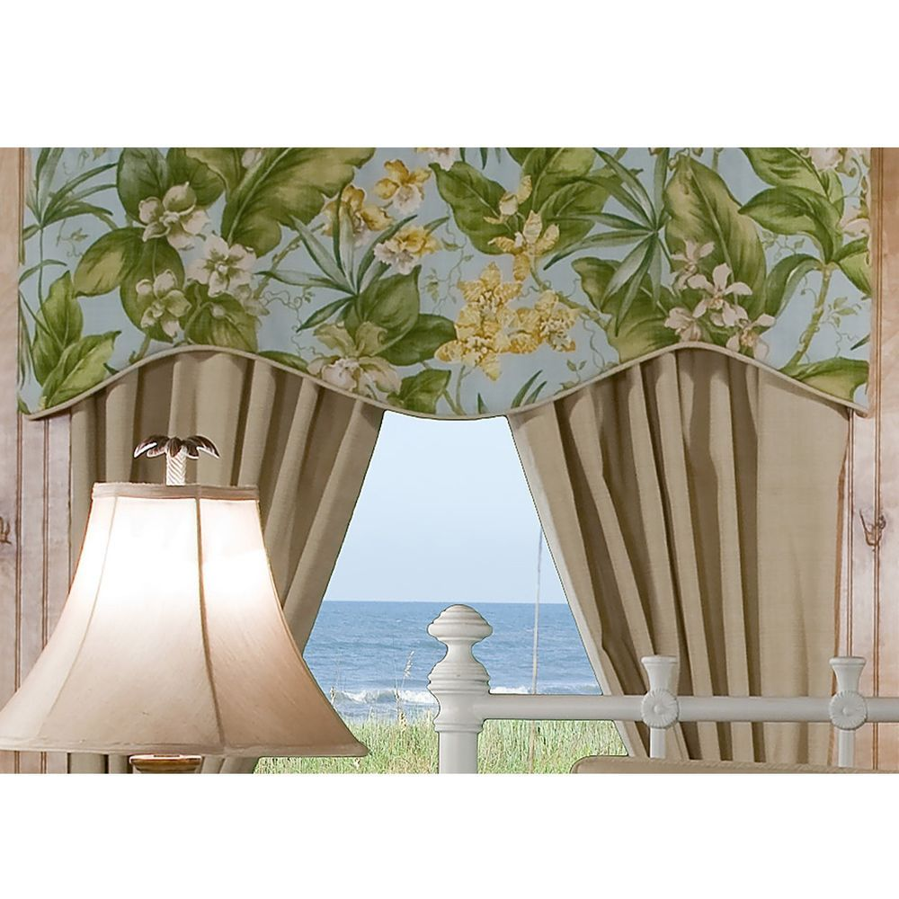 st croix light blue green yellow floral tropical window. Black Bedroom Furniture Sets. Home Design Ideas